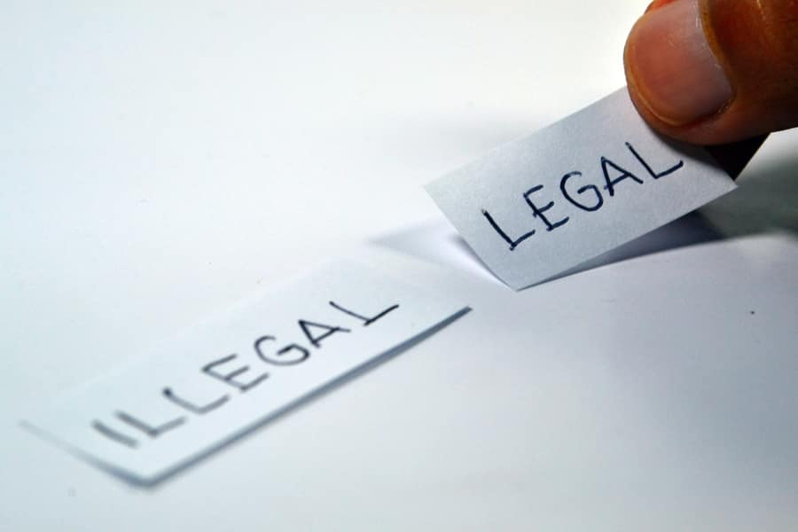databases can be legal or illegal